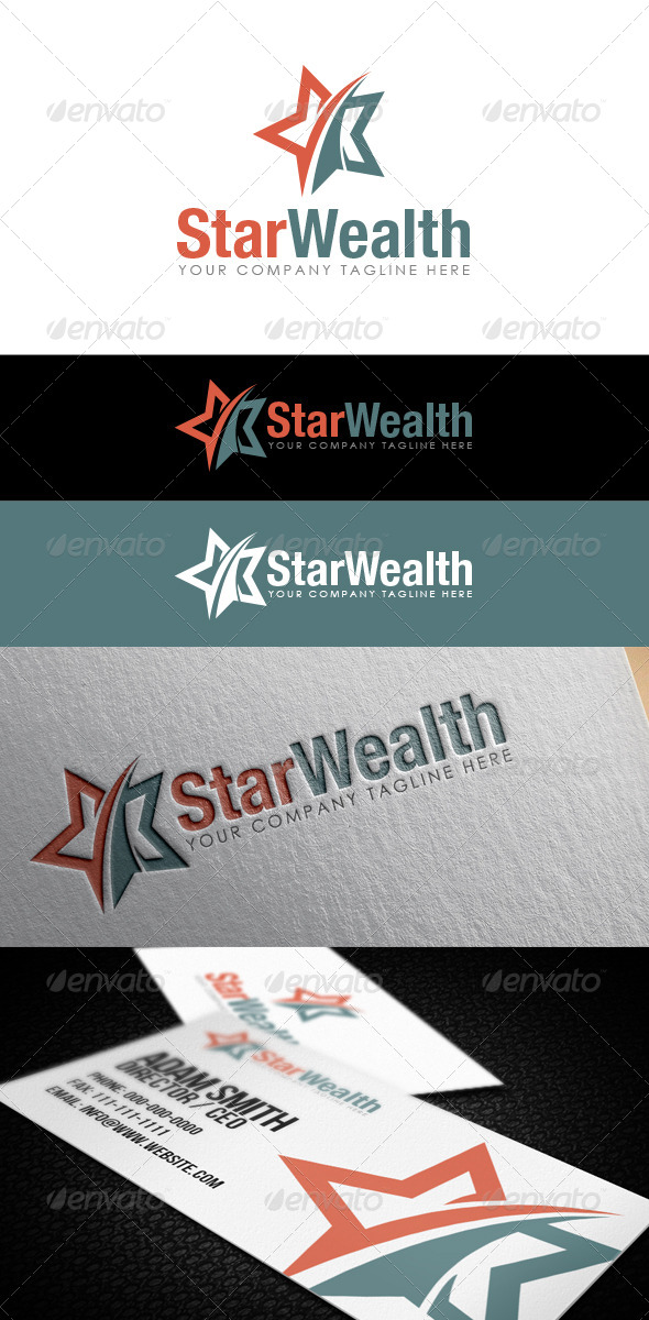 GraphicRiver Star Wealth Logo 8603344