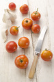 organic tomato on an old wooden table - PhotoDune Item for Sale