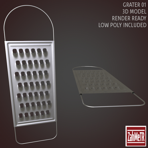 Grater 01 Low High Poly 3D Model