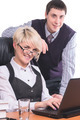 Attractive business people are working on laptop in office - PhotoDune Item for Sale