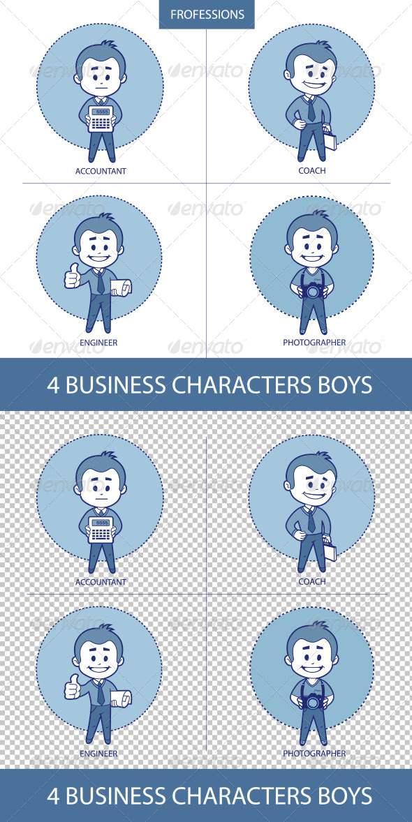 GraphicRiver Professions Business Characters Boys 8603598