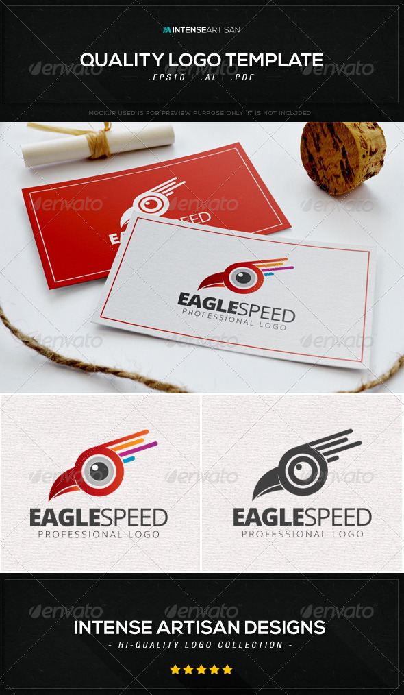 GraphicRiver Eagle Speed Logo Template 8603608