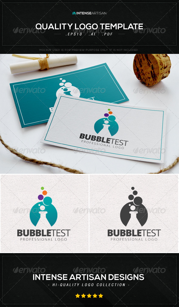 GraphicRiver Bubble Test Logo Template 8603736