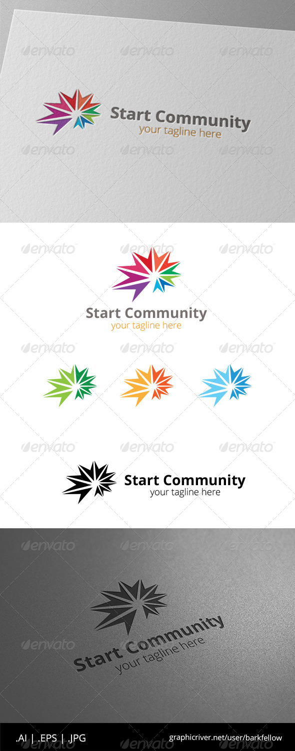 GraphicRiver Star Sun Community Logo 8603768
