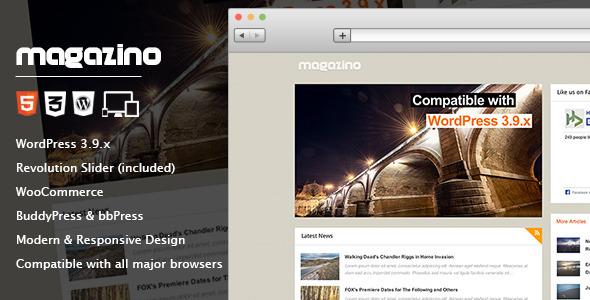 Magazino - Responsive WordPress Theme - Blog / Magazine WordPress