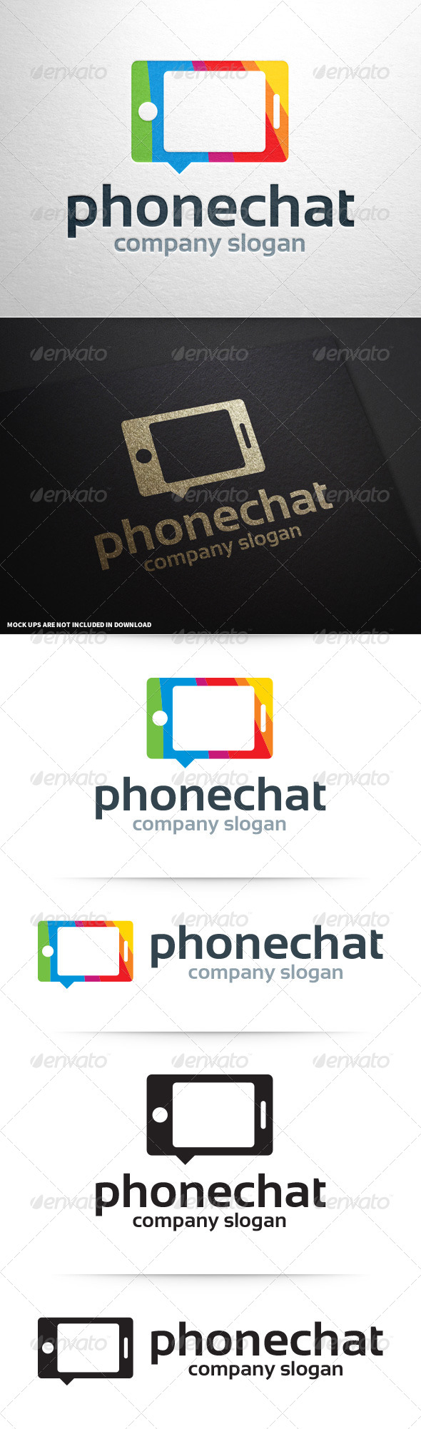 GraphicRiver Phone Chat Logo Template 8603825