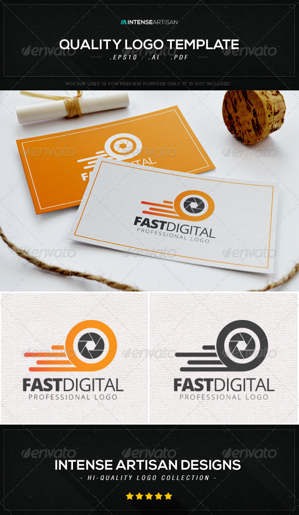 GraphicRiver Fast Digital Logo Template 8603836