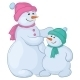 Snowmen Mother and Son - GraphicRiver Item for Sale
