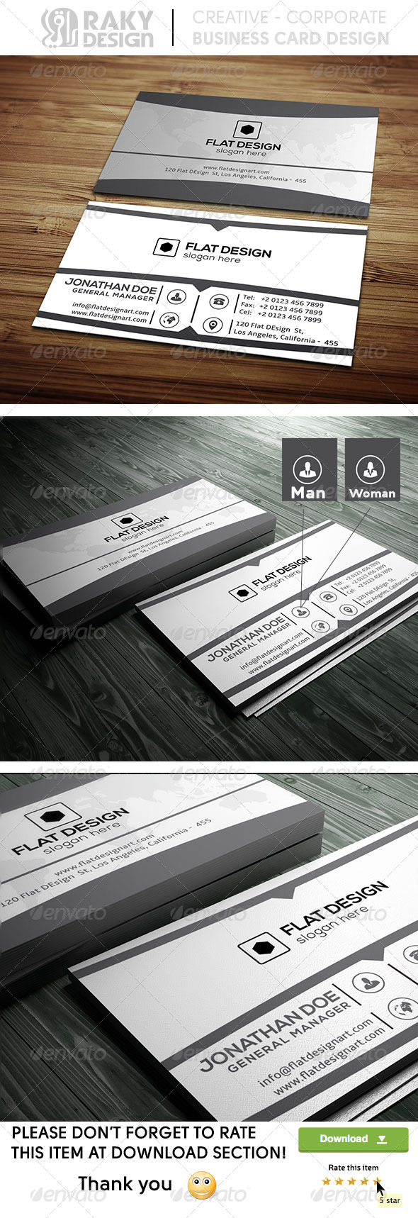 GraphicRiver Black & White Business Card 8603863
