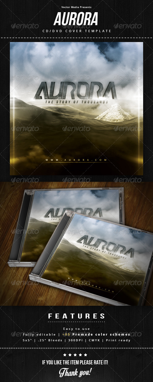 GraphicRiver Aurora Cd Cover 8603930