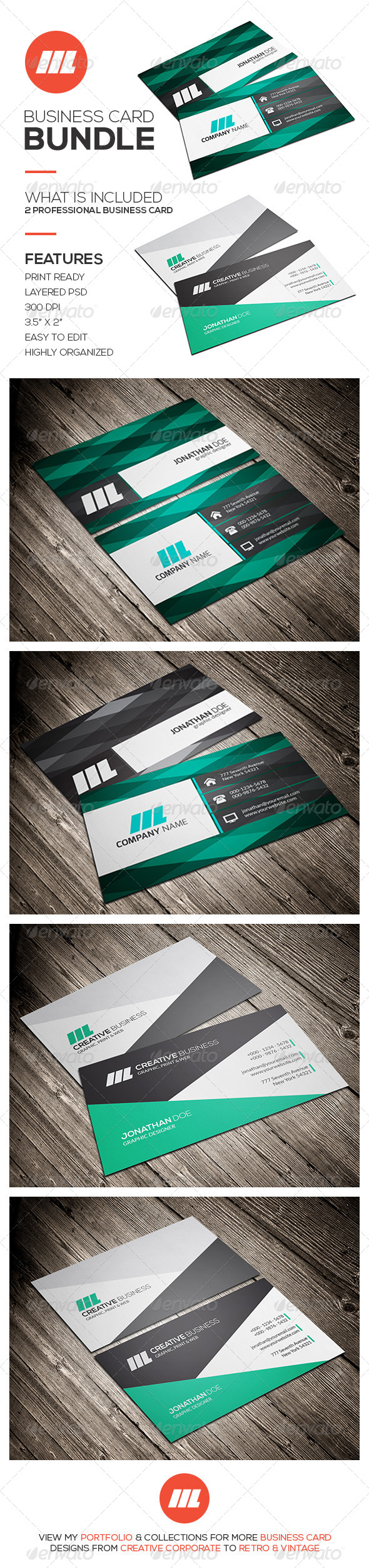 GraphicRiver Business Card Bundle Vol 01 8603943