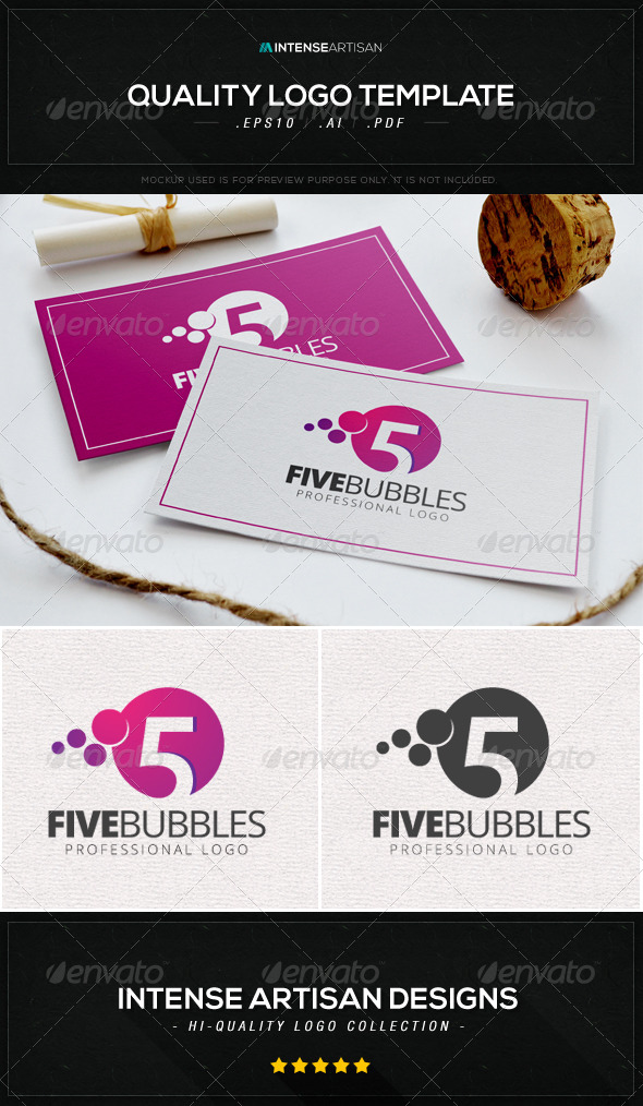 GraphicRiver Five Bubbles Logo Template 8603959