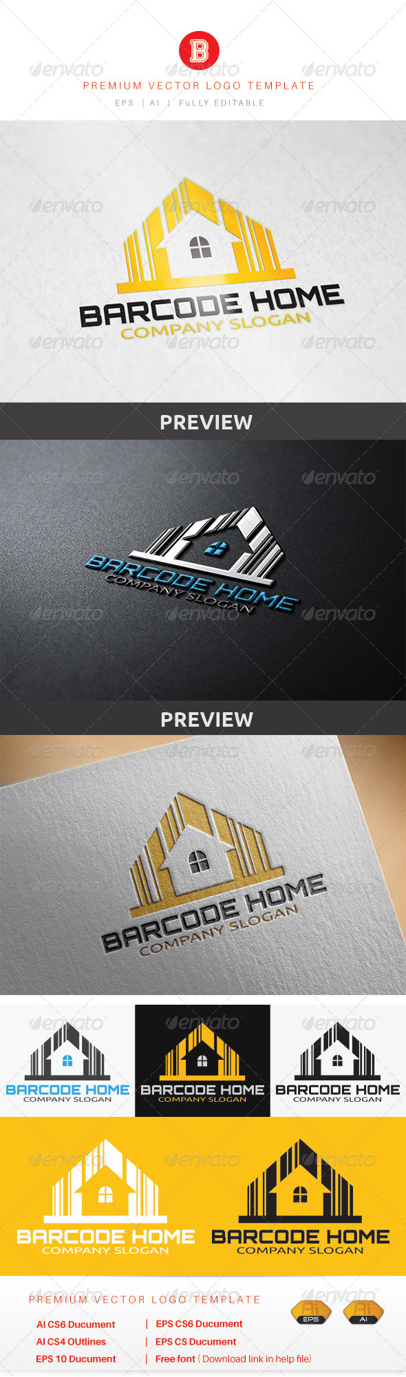 GraphicRiver Barcode Home 8604045