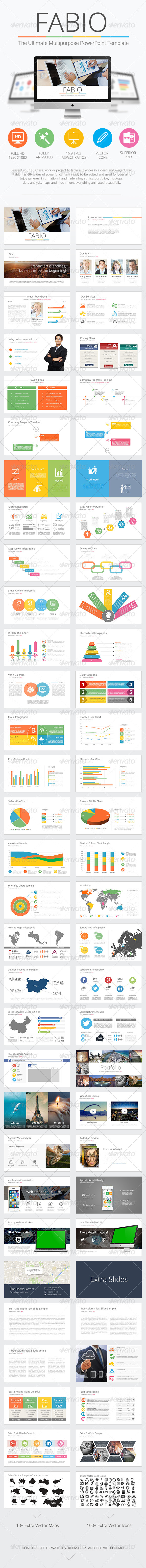 GraphicRiver Fabio Ultimate Multipurpose PowerPoint Template 8553167