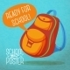 Backpack, with Speech Bubble. Ready for School - GraphicRiver Item for Sale