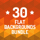 30 Flat Backgrounds Bundle - GraphicRiver Item for Sale