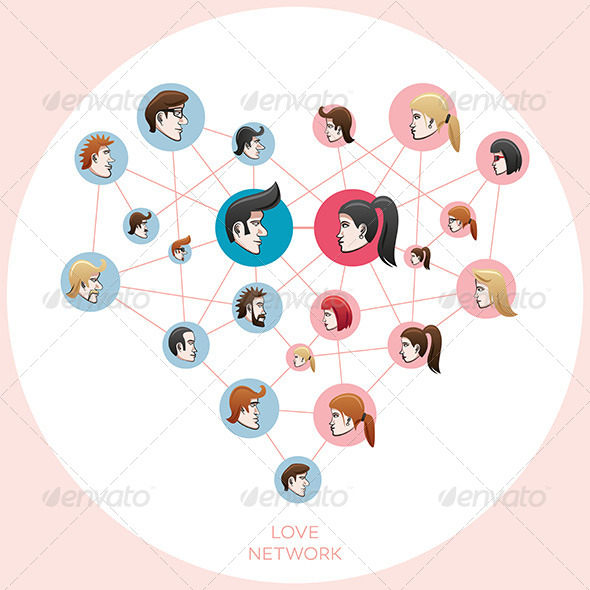GraphicRiver Love Social Network 8604040