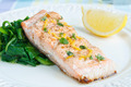 Salmon with Spinach - PhotoDune Item for Sale