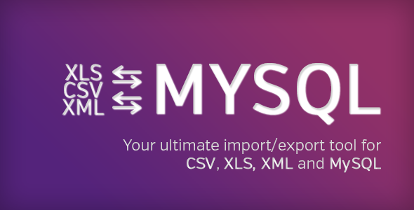 Ultimate DB import/export (CSV-XLS(x)-XML-MySQL) - CodeCanyon Item for Sale