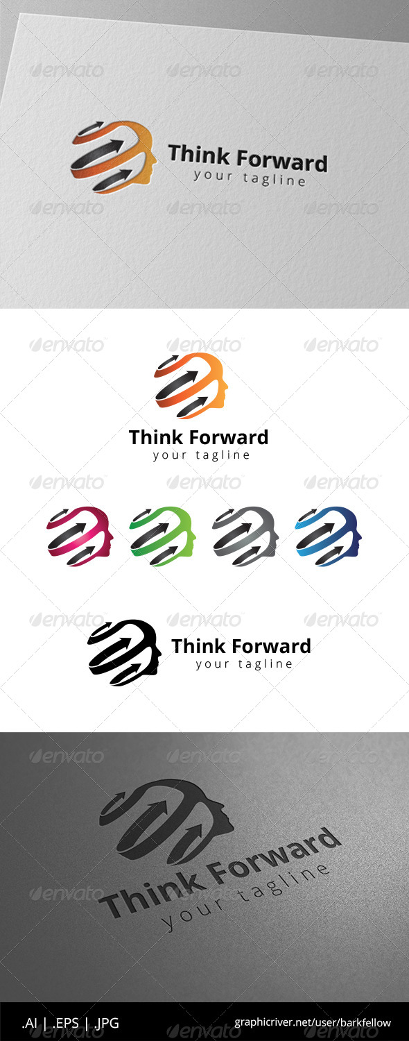 GraphicRiver Head Think Fast Logo 8604830