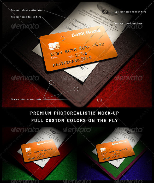 GraphicRiver Photorealistic full-custom credit card mock-up 8603072