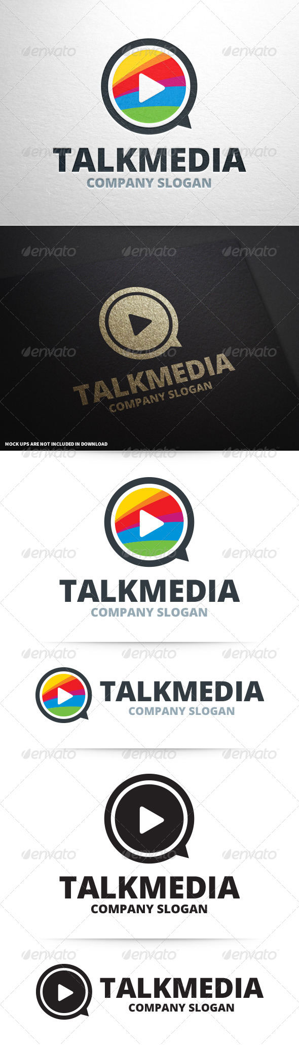GraphicRiver Talk Media Logo Template 8604843