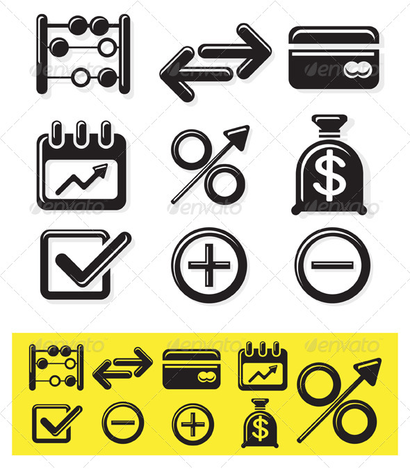 GraphicRiver Icon Set Finance Illustration 8604864