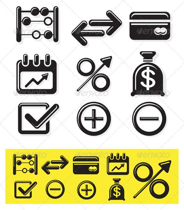 Icon Set Finance Illustration