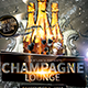 Champagne Lounge Party Flyer Template - GraphicRiver Item for Sale