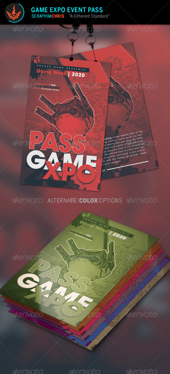 GraphicRiver Game Expo Event Pass Template 8597755