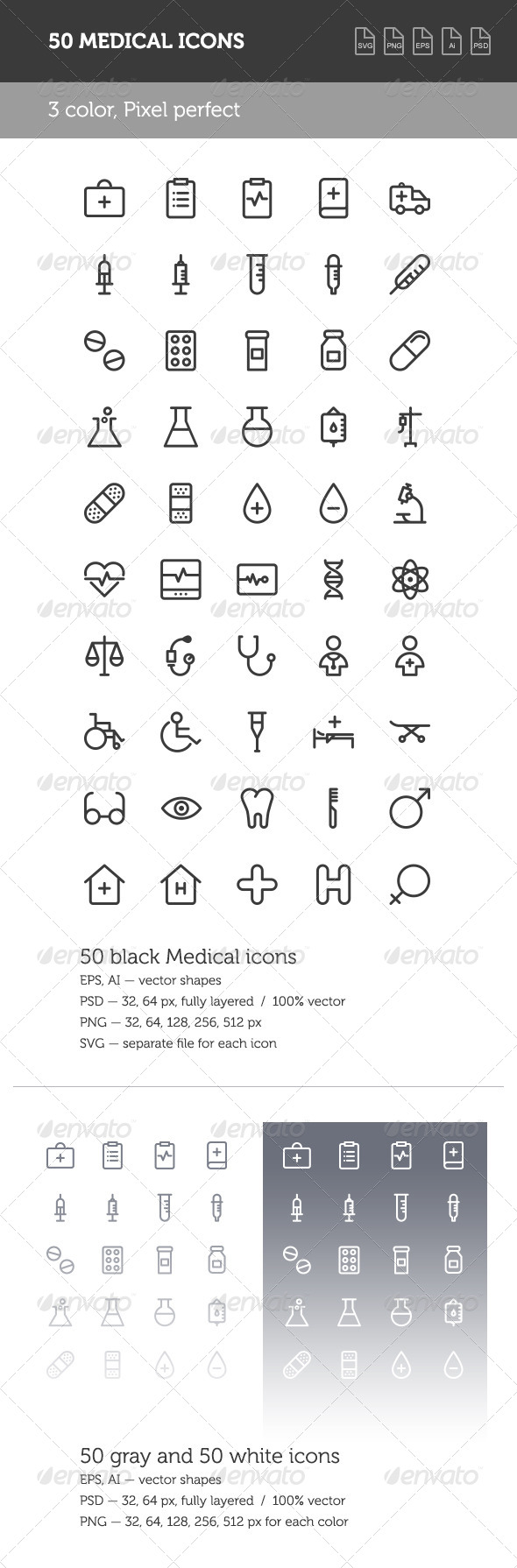 GraphicRiver Medical Icon Set 8605224
