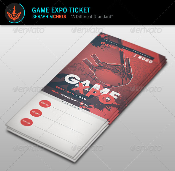 GraphicRiver Game Expo Ticket Template 8597849