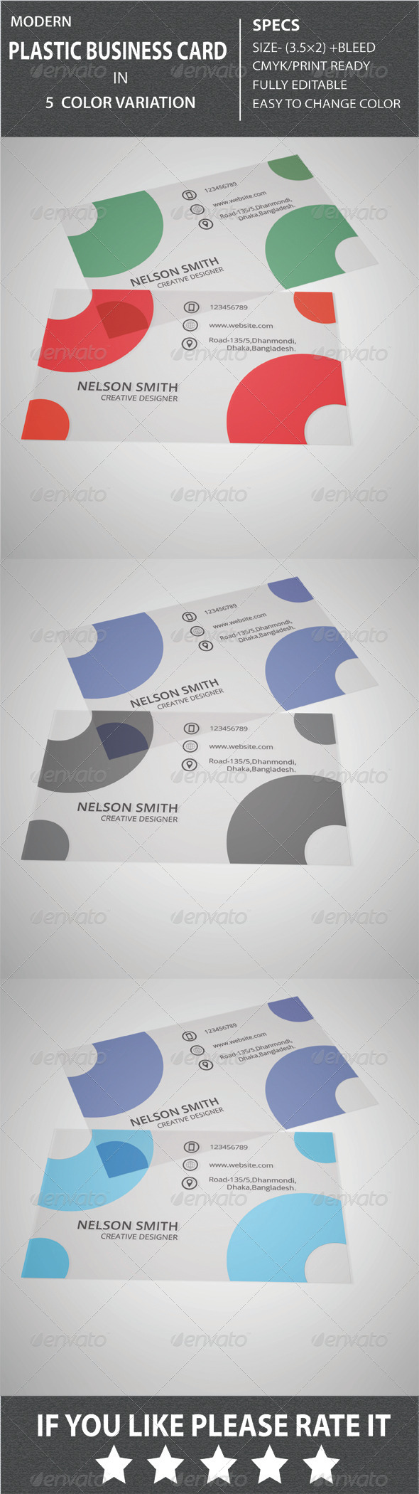 GraphicRiver Modern Plastic Business Card- 1 8563598