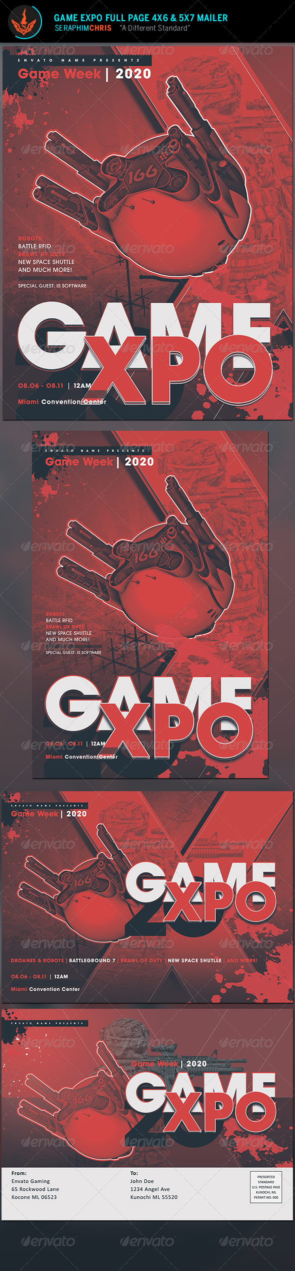 GraphicRiver Game Expo Flyer and Mailer Template 8598045
