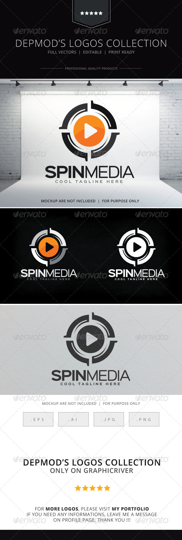 GraphicRiver Spin Media Logo 8605852