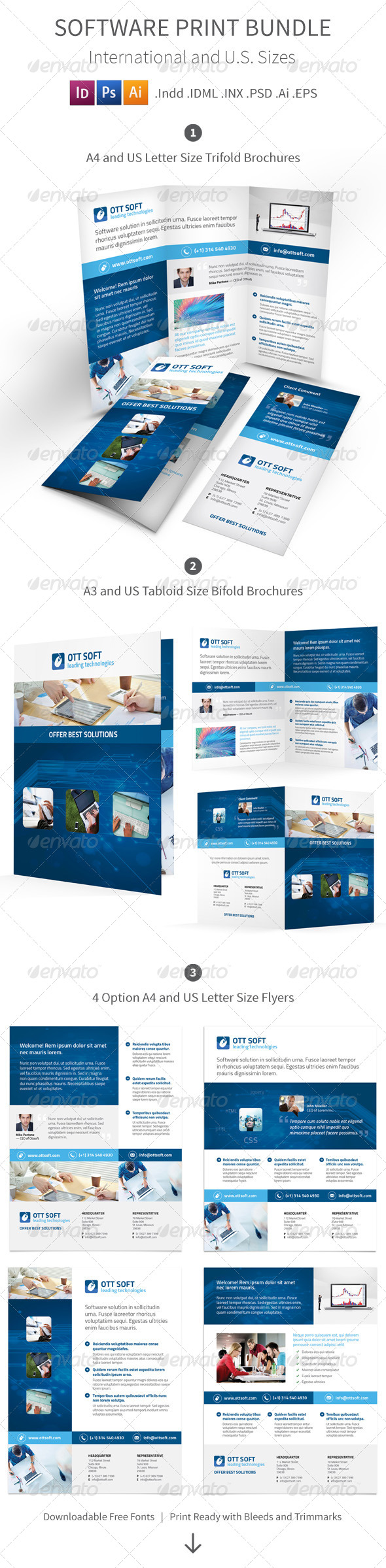 GraphicRiver IT and Software Print Bundle 8606013