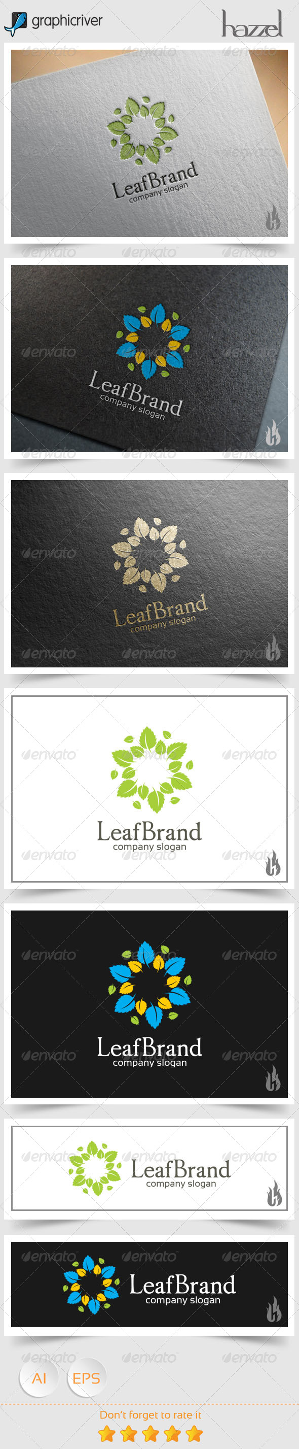 GraphicRiver Leaf Brand Logo 8588971