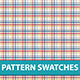 10 Plaid Pattern Swatches Vector