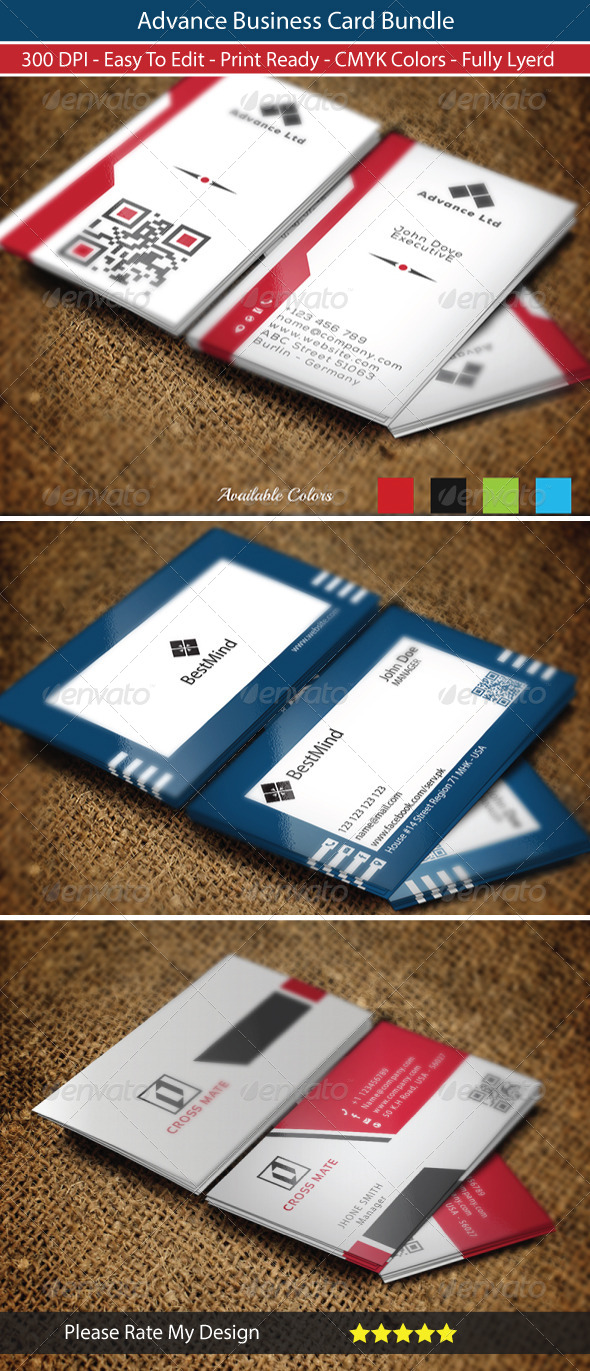 GraphicRiver Advance Business Card Bundle 8606117