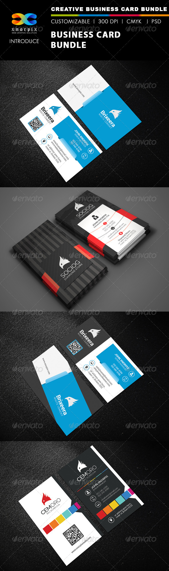 GraphicRiver Business Card Bundle 3 in 1-Vol 41 8606149