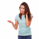 Adult lady speaking with angry gesture - PhotoDune Item for Sale