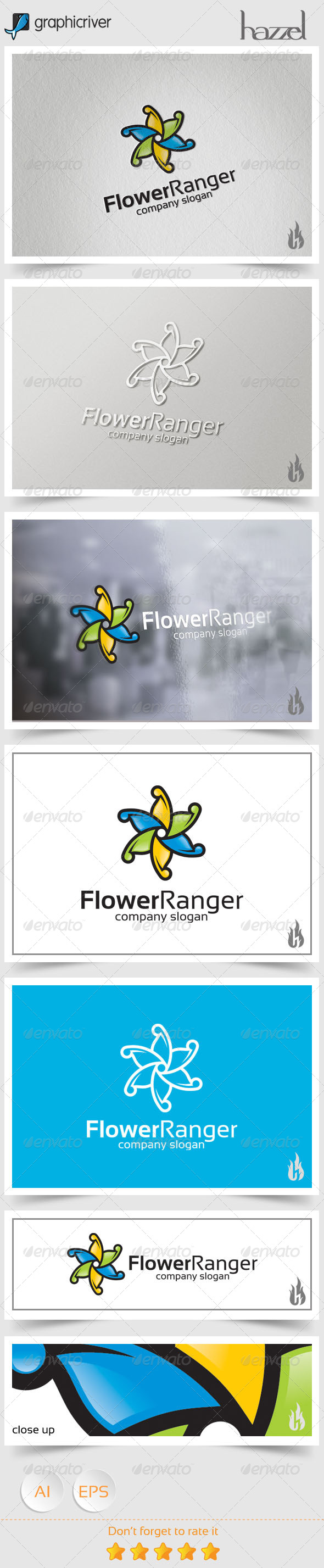 GraphicRiver Flower Ranger Logo 8606175