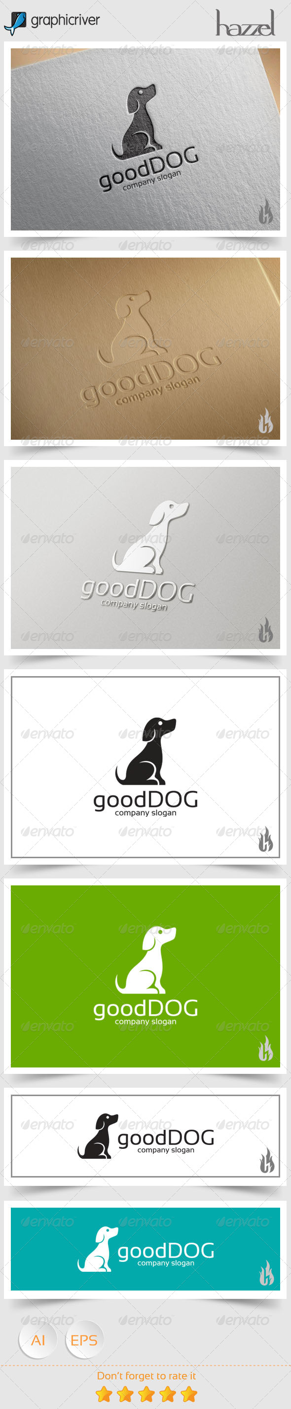 GraphicRiver Good Dog Logo 8606282