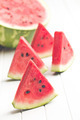 sliced watermelon on kitchen table - PhotoDune Item for Sale