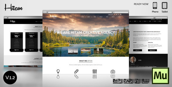 Hitam Onepage Muse Template Download