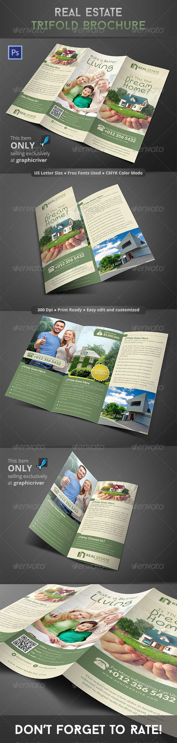 GraphicRiver Real Estate Trifold Brochure 8606749