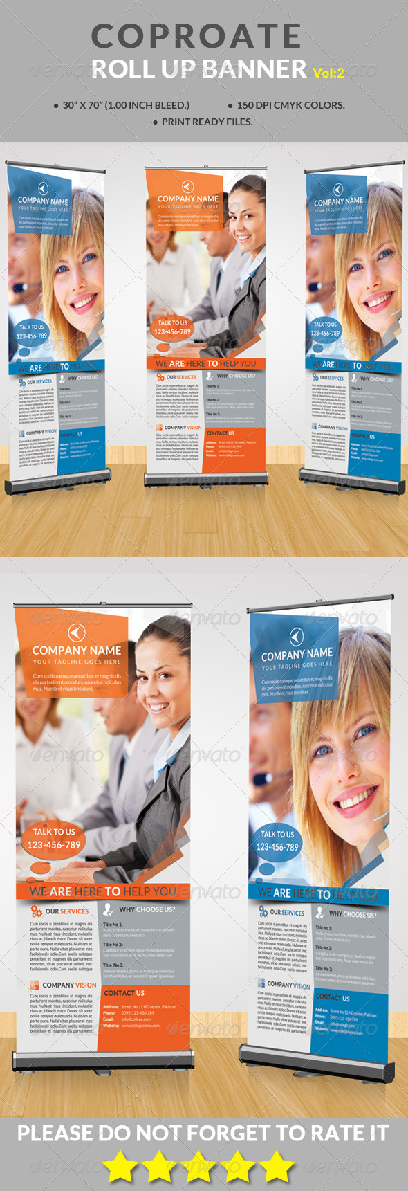 GraphicRiver Corporate Rollup Banner Vol 2 8606751