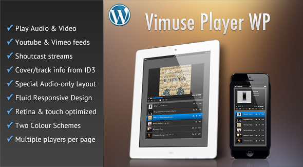 CodeCanyon Vimuse Media Player Wordpress Plugin 8606953