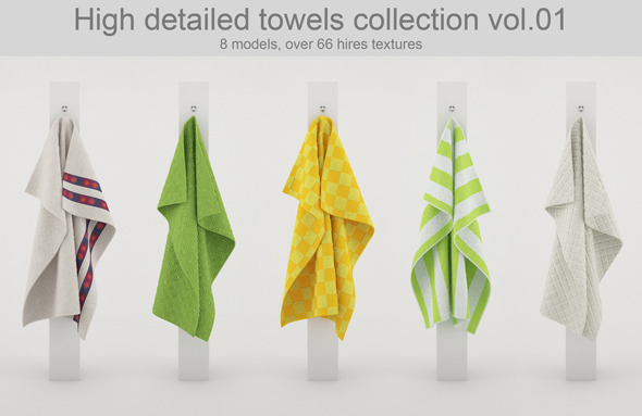 Towels Collection vol.01 - 3DOcean Item for Sale