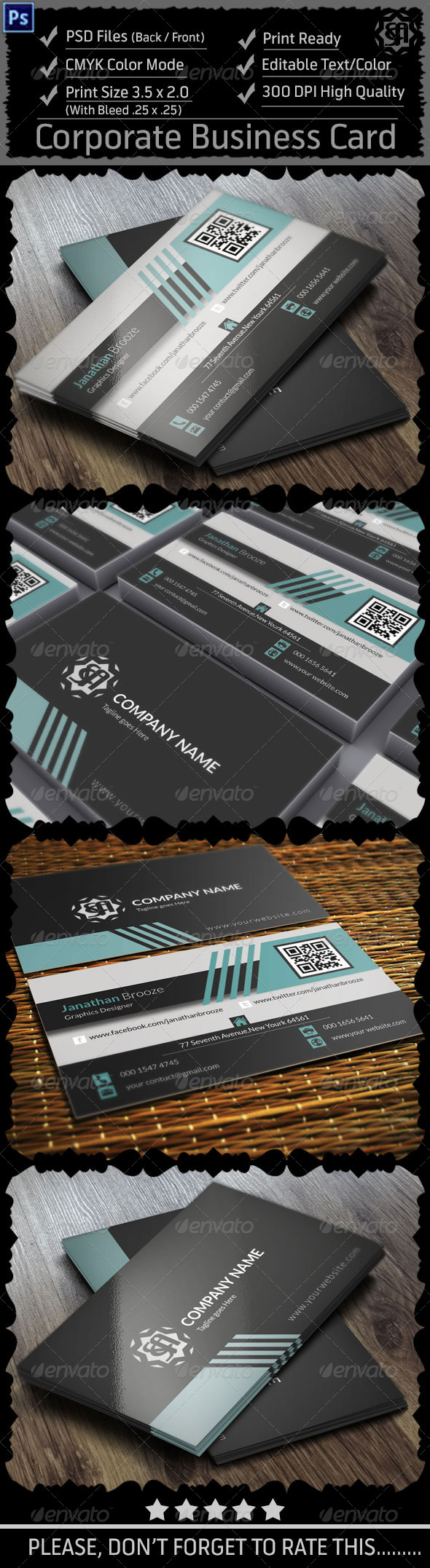GraphicRiver Corporate Business Card Vol 11 8607132